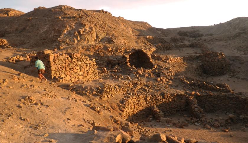 caminando ruinas puerto inca