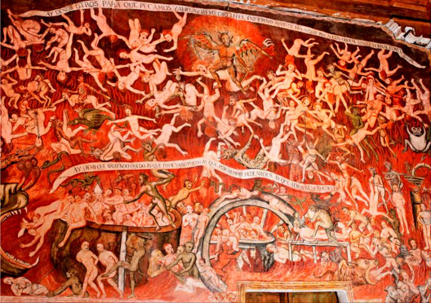 infierno-templo de huaro - foto ruta del barroco andino
